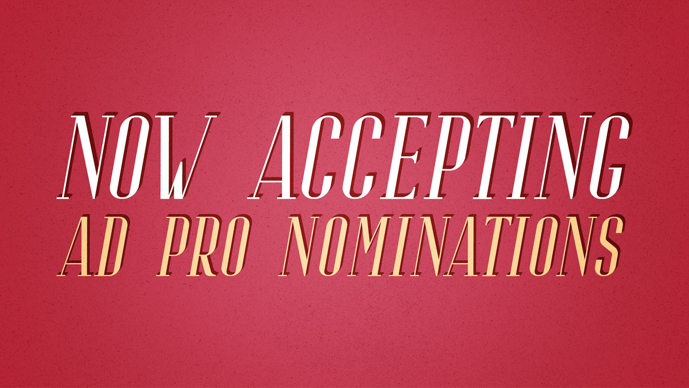 Ad Pro Nominations 2019